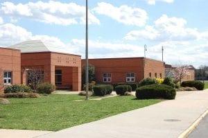 Red brick school in Ashburn VA
